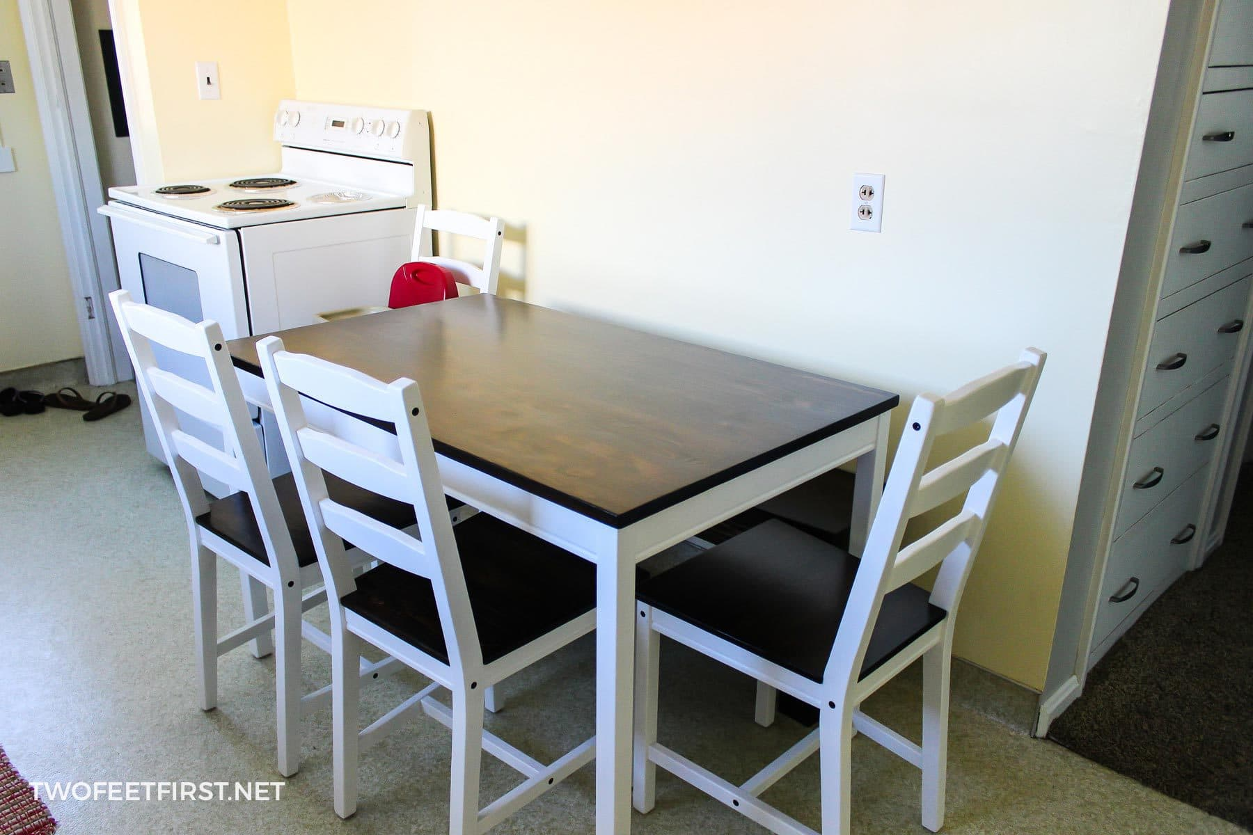Do It Yourself Divas Diy Kitchen Table Makeover: Ikea Hack: Farmhouse Table