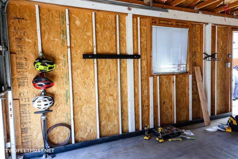 garage wall with no bike storage