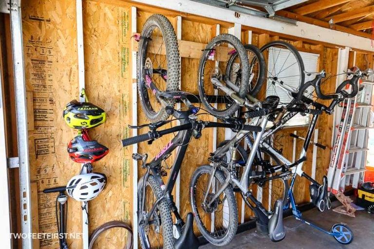 DIY Simple bike rack in the garage