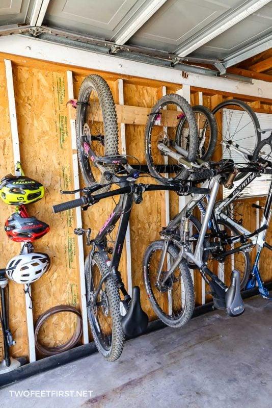 bike storage in garage