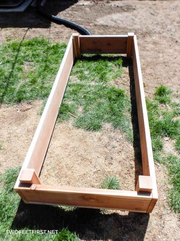 garden box assembled
