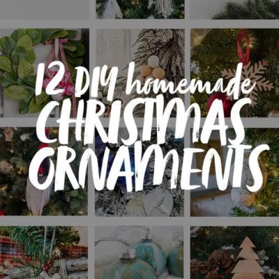 DIY homemade Christmas Ornaments