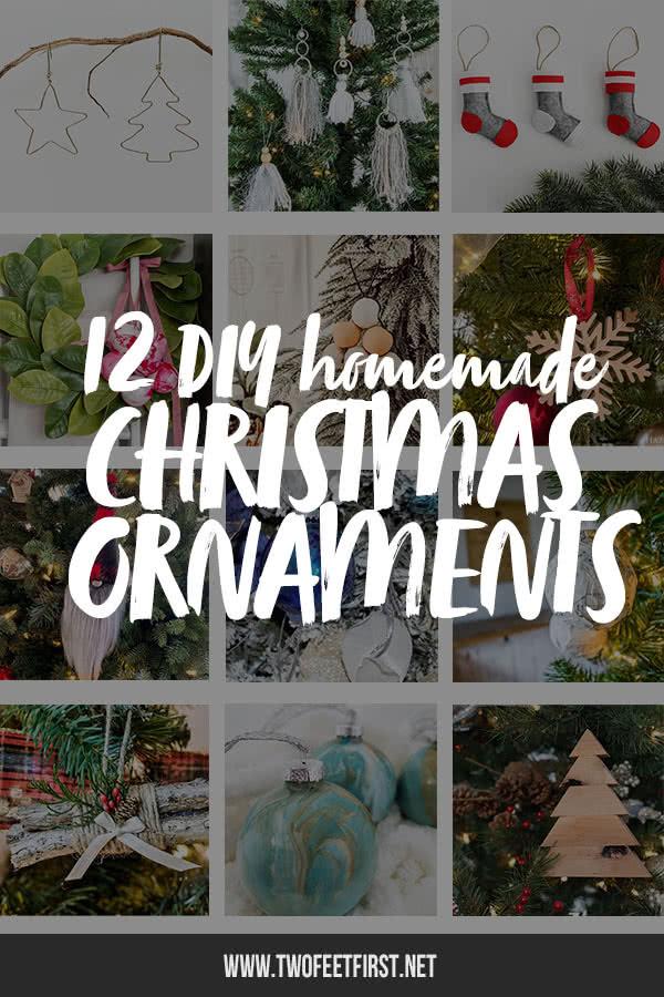12 DIY Homemade Christmas Ornaments