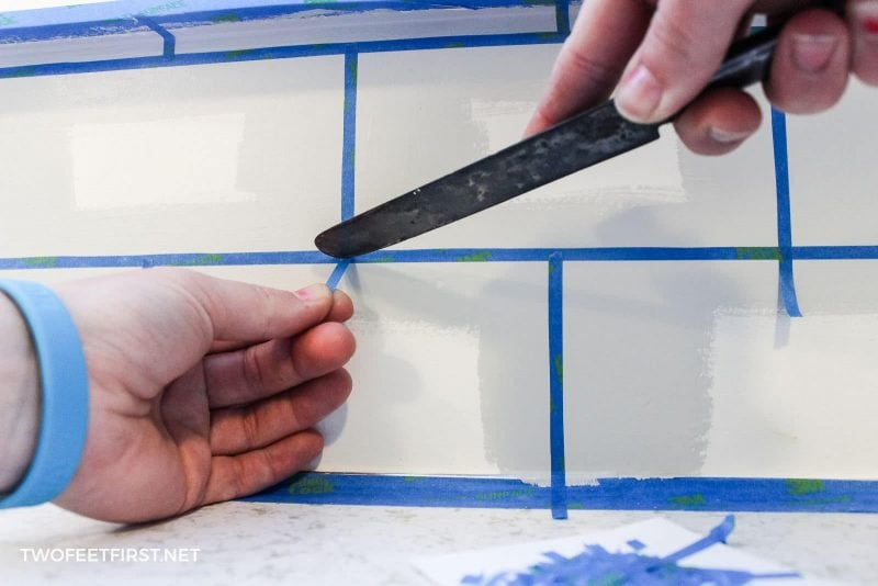 creating grout lines with paint
