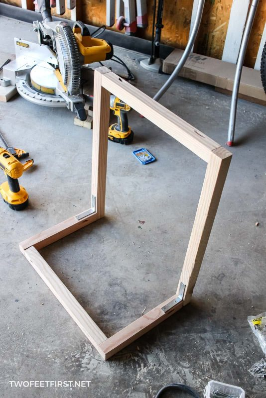 wood frame for laptop table