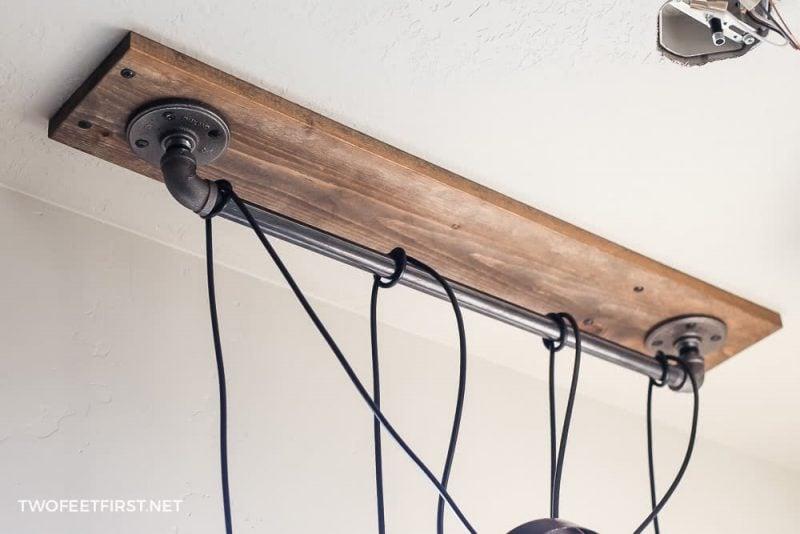 knot pendant light around pipe