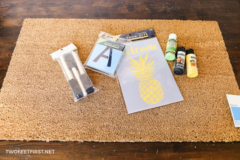 supplies needed to DIY welcome doormat