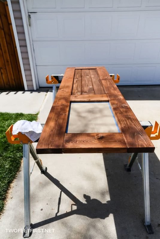 staining barn door