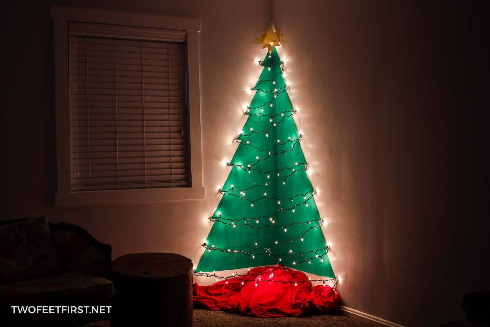 Diy Wall Mounted Christmas Tree