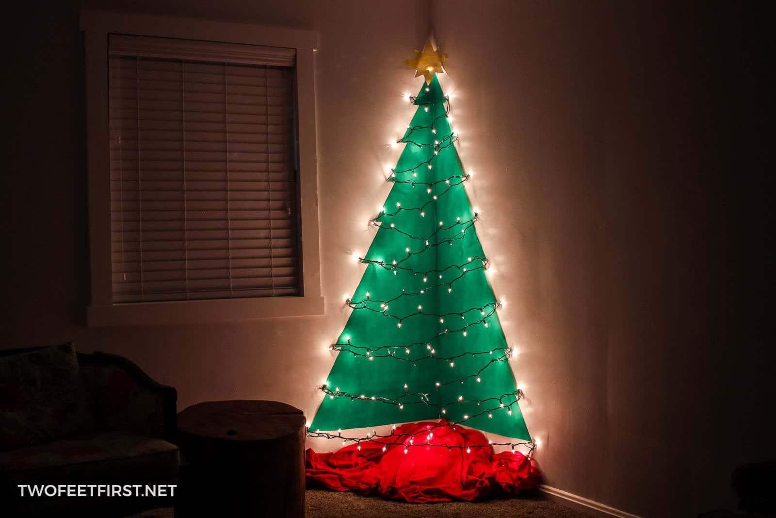 Wall Christmas Trees.Diy Wall Mounted Christmas Tree