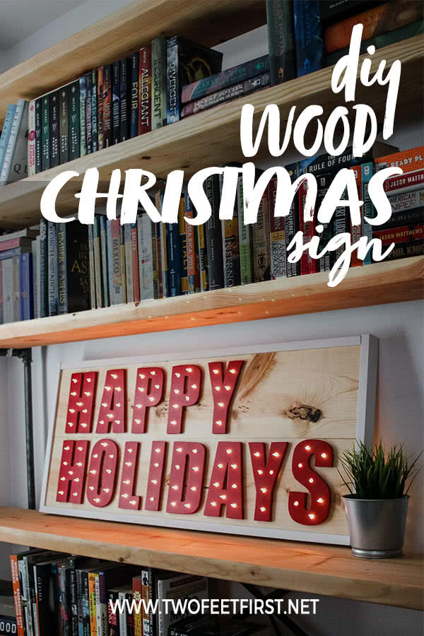 DIY wood Christmas sign