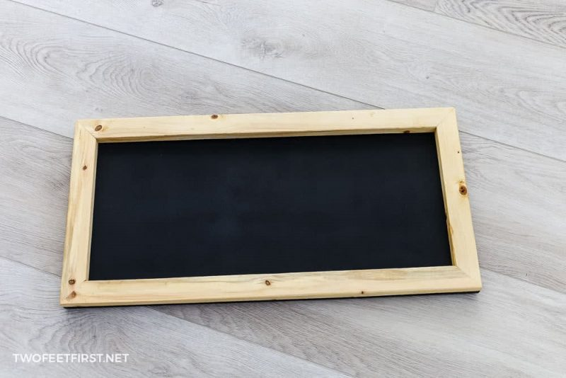 wooden frame with chalkboard insert