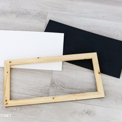 materials for changeable wooden frame for signs