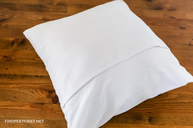 Make an envelope pillow cover with one piece of fabric