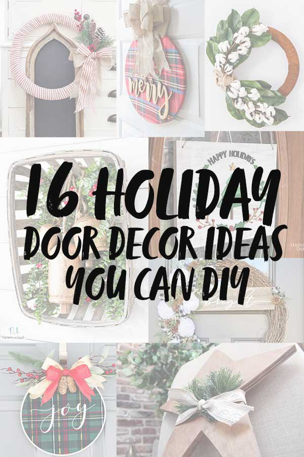 16 Christmas Door Decorations You Can DIY