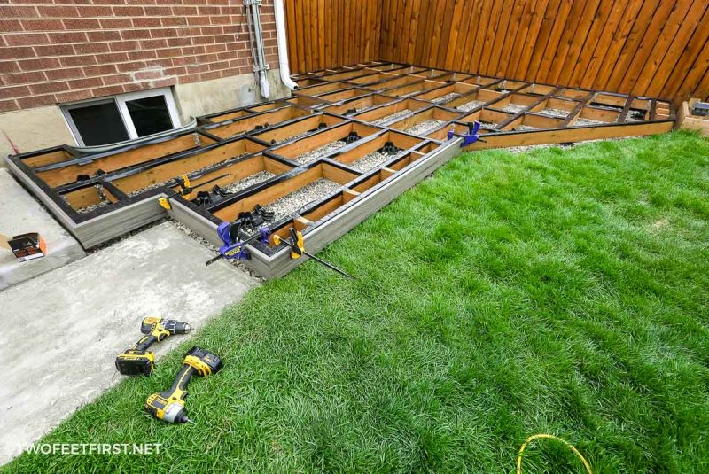 install fascia onto floating deck with clamps