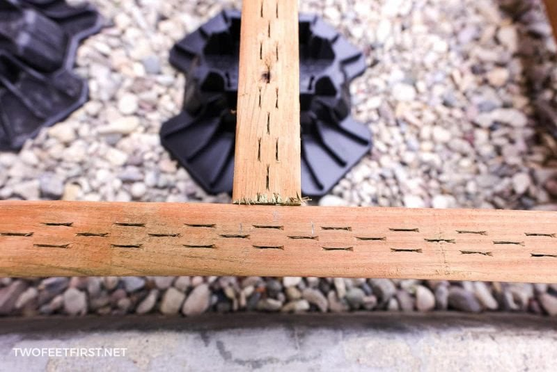 alignment for joist of floating deck