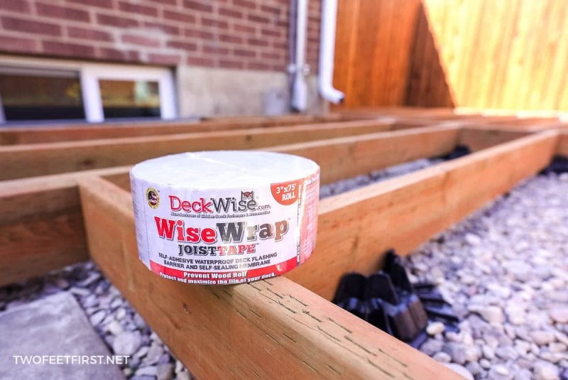 WiseWrap joist tape for deck