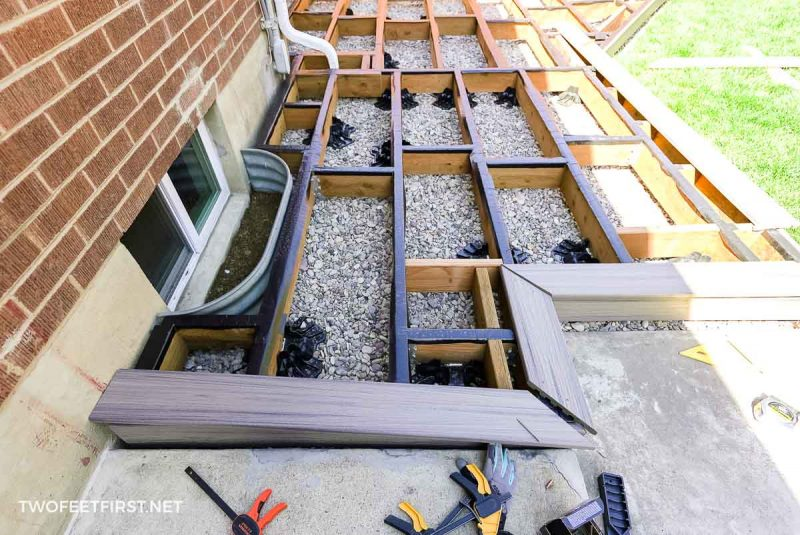 creating picture frame for floating deck