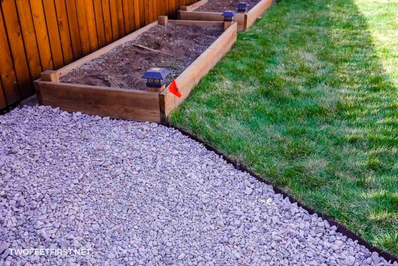 gravel foundation for floating deck
