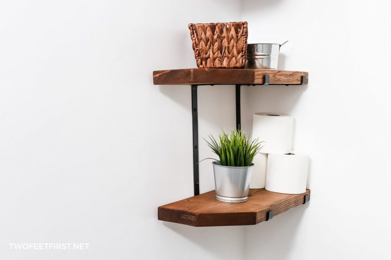 How to create DIY farmhouse shelves with metal brackets