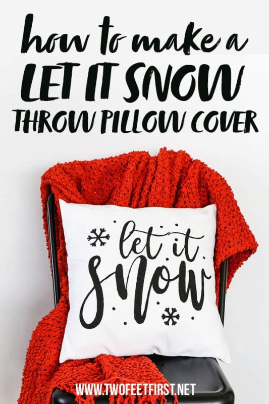 how to make a Let It snow pillow cover