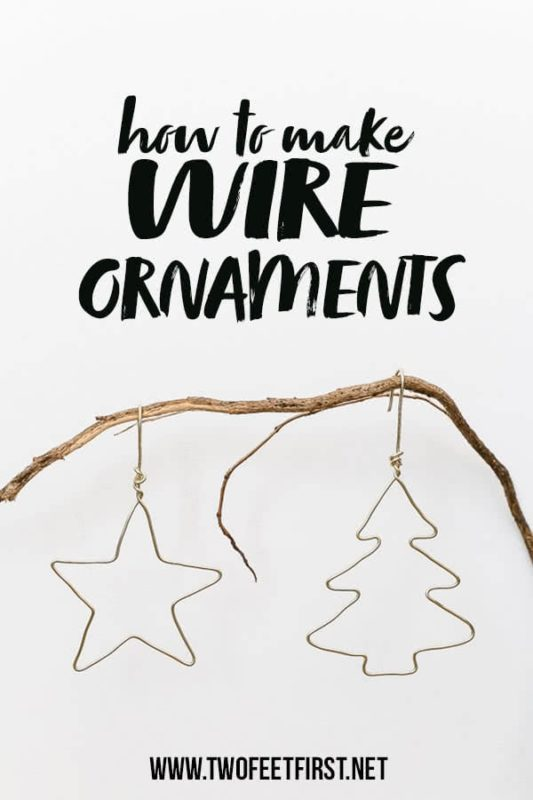 how to make wire ornaments
