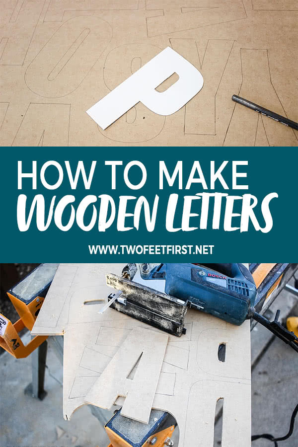 how to make wooden letters