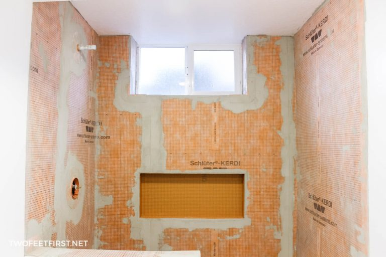 How to prep a shower for tile with Schluter Kerdi
