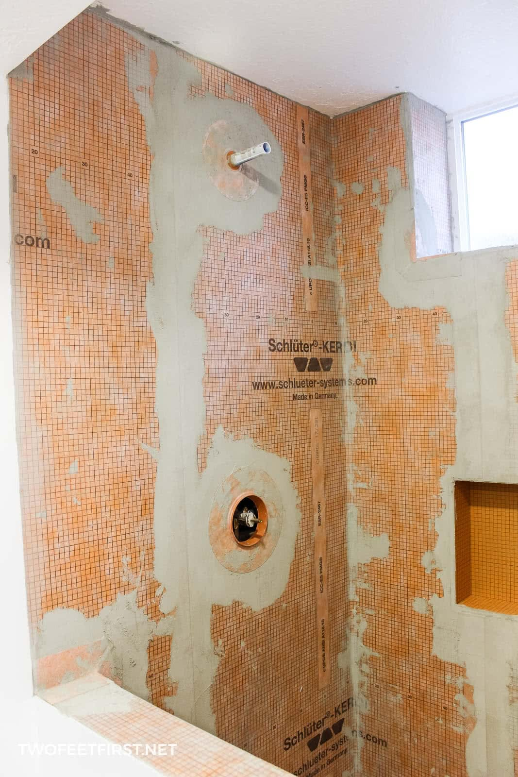 how to install Schluter Kerdi shower system