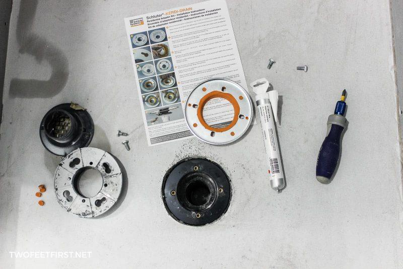 items to install Schluter Kerdi shower drain