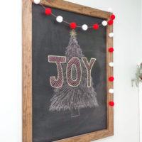 Easy DIY Large Chalkboard
