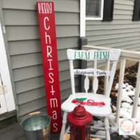 Merry Christmas Porch Sign with Cricut