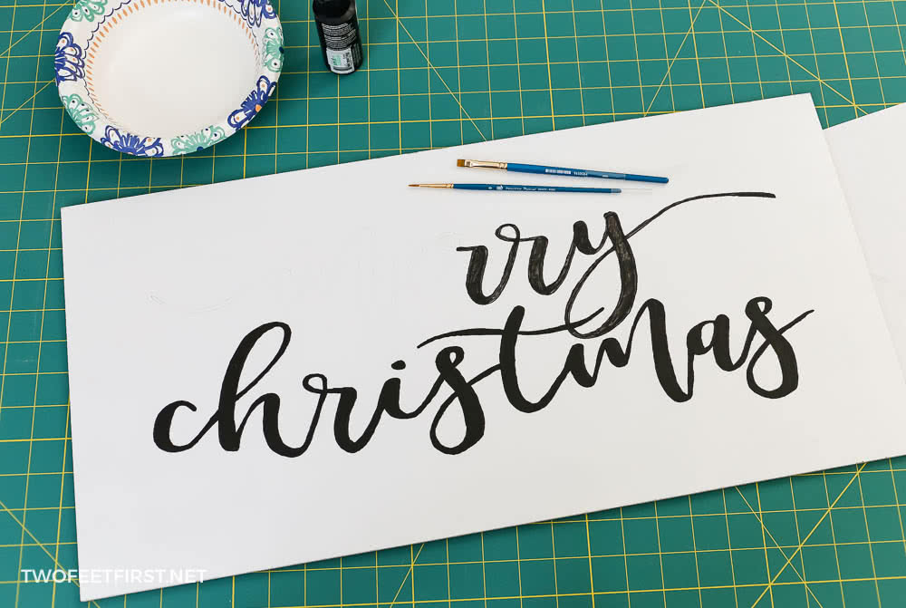 paint Christmas sign