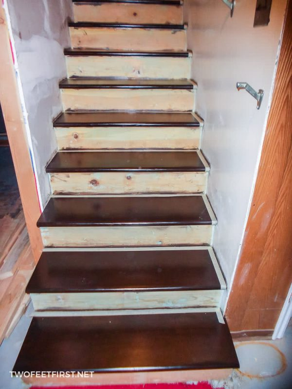 prepping stairs for paint