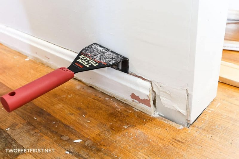 trim puller and baseboard