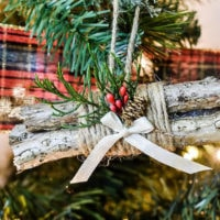 Rustic Log Bundle DIY Ornament