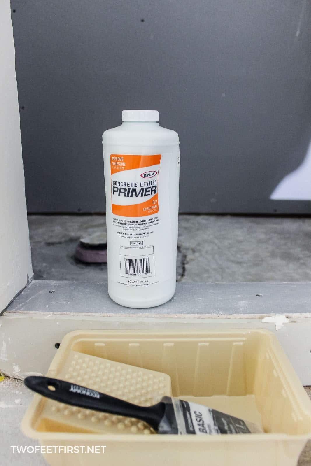 self-leveling concrete primer