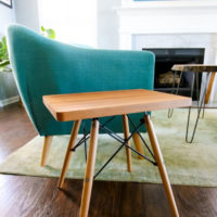 Upcycled to make a modern side table