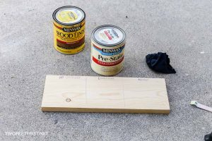 testing pre-stain on pine board before stain