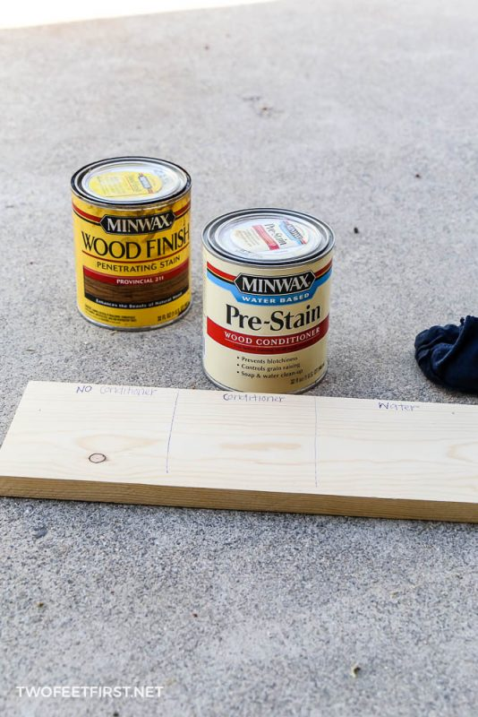 testing if wood conditioner is needed before stain