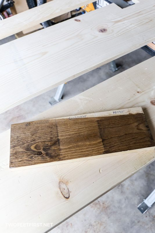 test wood conditioner before staining