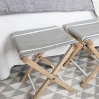 Upcycled Folding Stools