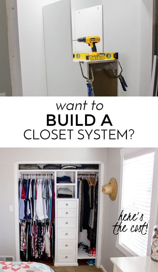 the cost to build a closet system