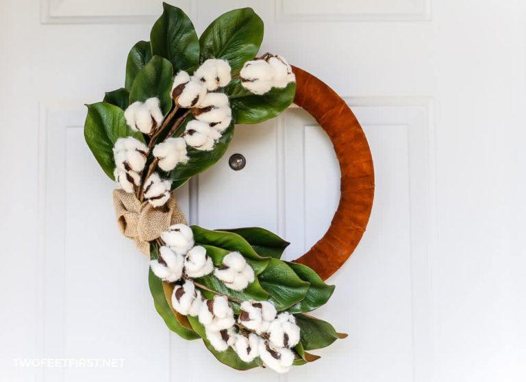 DIY Winter Magnolia Wreath