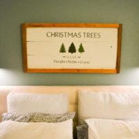 DIY Rustic Wood Christmas Tree Sign