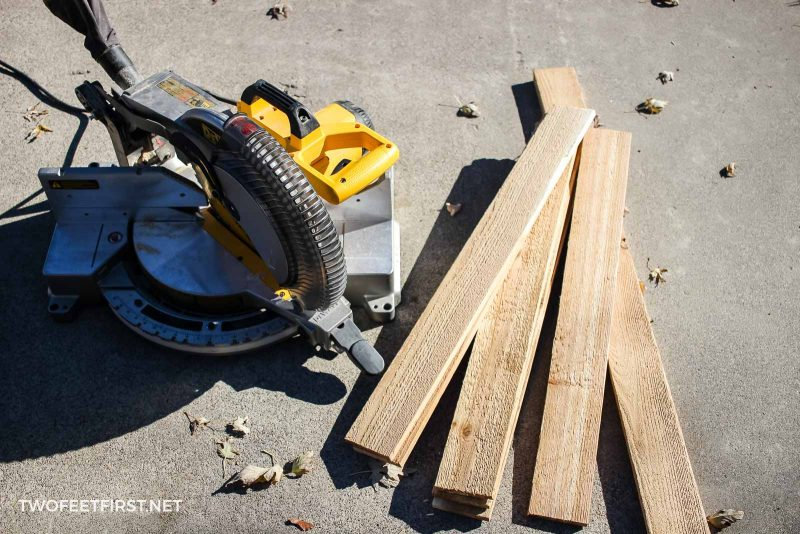 supplies for wooden Christmas tree