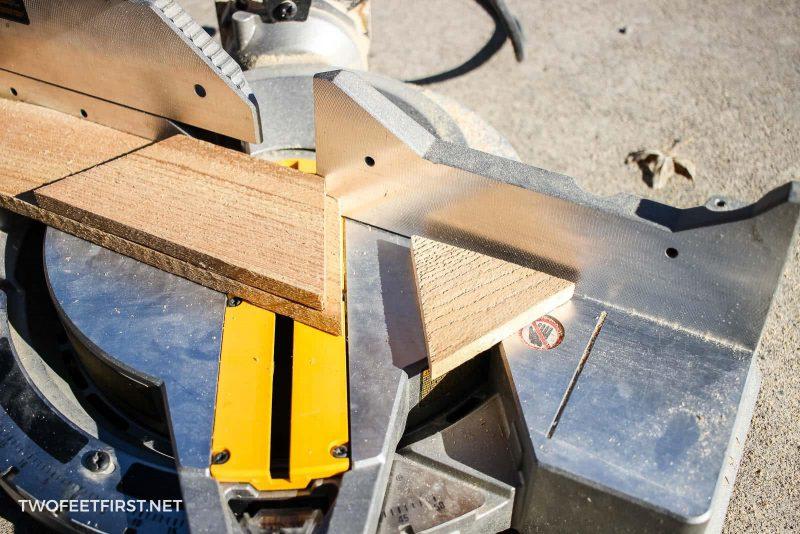 cut cedar board for Christmas tree