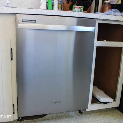 added dishwasher to existing cabinets
