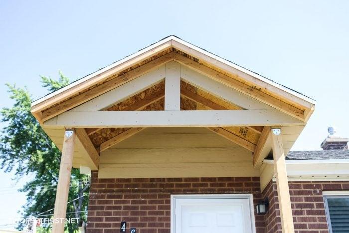 adding trim to porch